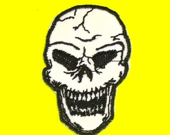 Demon Skull Skeleton Face Iron or Sew On Patch