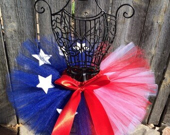 Red White & Blue Tutu, 4th of July Tutu, Homecoming Tutu, Photo Prop, Baby Tutu, Newborn Tutu, Toddler Tutu, 4th of July Outfit