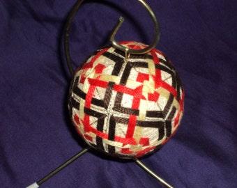 Hand Embroidered Japanese Temari Ball