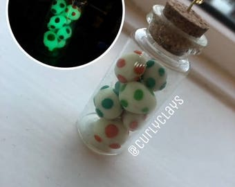 Clay Charms In A Bottle (Yoshi Eggs)