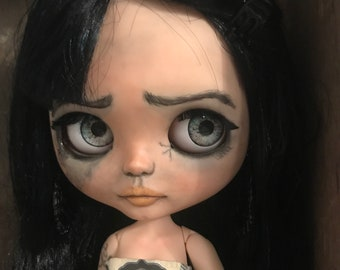 OOAK custom blythe doll Lenoira gothic tattoos