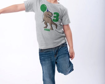 Best Seller Dinosaur Birthday Shirt, 3rd Birthday T-Shirt, Dinosaur Birthday Party, Personalized T-Rex Shirts, Use Any Number, Dinosaur Tees