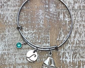 Graduation Gift - Sailing bracelet - nautical bracelet - sailing jewelry - sailor bracelet - sailboat bracelet - ocean bracelet - maritime -