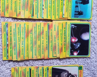 1980 Star Wars Trading Cards - Gold