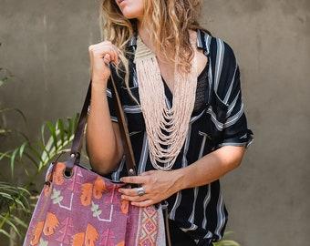 Boho Shoulder Bag- Womens Bags- Ethnic Tribal Bohemian Hippie Gypsy Women Handbag Fabric Tote Bag Boho Style