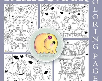 Cute HALLOWEEN Coloring Pages for Adults and Kids