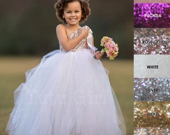 Ivory Blush Flower Girl Dress