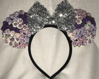 Floral Ears : Purple/Multi Roses