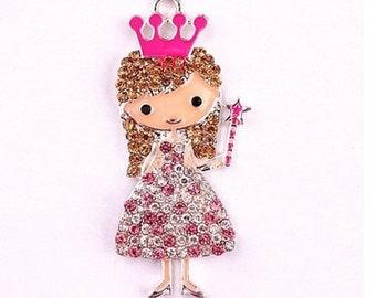 Little DIVA Bubble Gum Necklace Princess Pendant