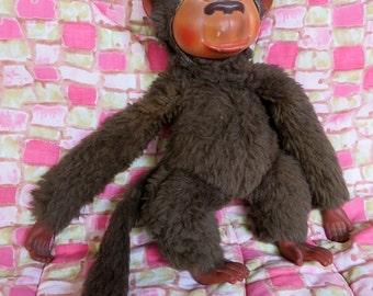 Vintage 60s monkey toy - Made in Valencia Spain by VIR