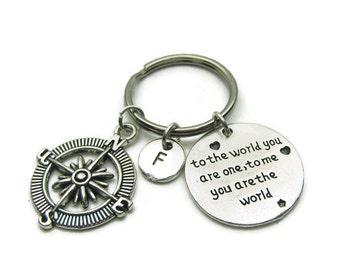 Best Friends Compass Keychains,Couples Keychains,BF GF Keychains,Sisters Keychains, Friends Keychains, BFF Keychains, Personalized Keychains