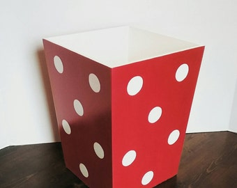 More Colors. Red Polka Dot Waste Basket   Polka Dot Trashcan ...