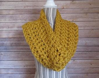 Goldenrod Crocheted Cowl