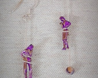 """Original and unique women's earrings in silver. Collection """"Equilibrium"""""""