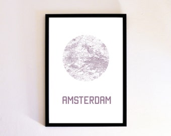 Custom City Map Poster Print