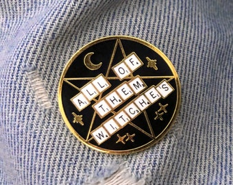 all of them witches // A Witchy Black and Gold Enamel Pin Inspired by Rosemary's Baby