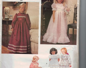 1980s Girls Vintage Sewing Pattern Vogue 1272 Girls Party Dress Flower Girl First Communion Size 6 Breast 25 1980s 80s  99