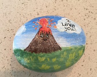 I Lava You Painted Rock