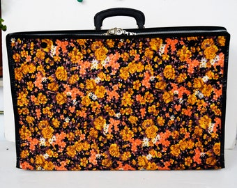 small folding. flower suitcase vintage.small suitcase.flower suitcase.folding suitcase.Tapestry bag.Suitcases,Travel bag.floral bag
