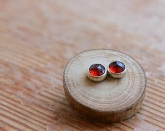 Garnet Earrings - Garnet and Silver Earrings - Handmade Garnet and silver earrings - January birthstone