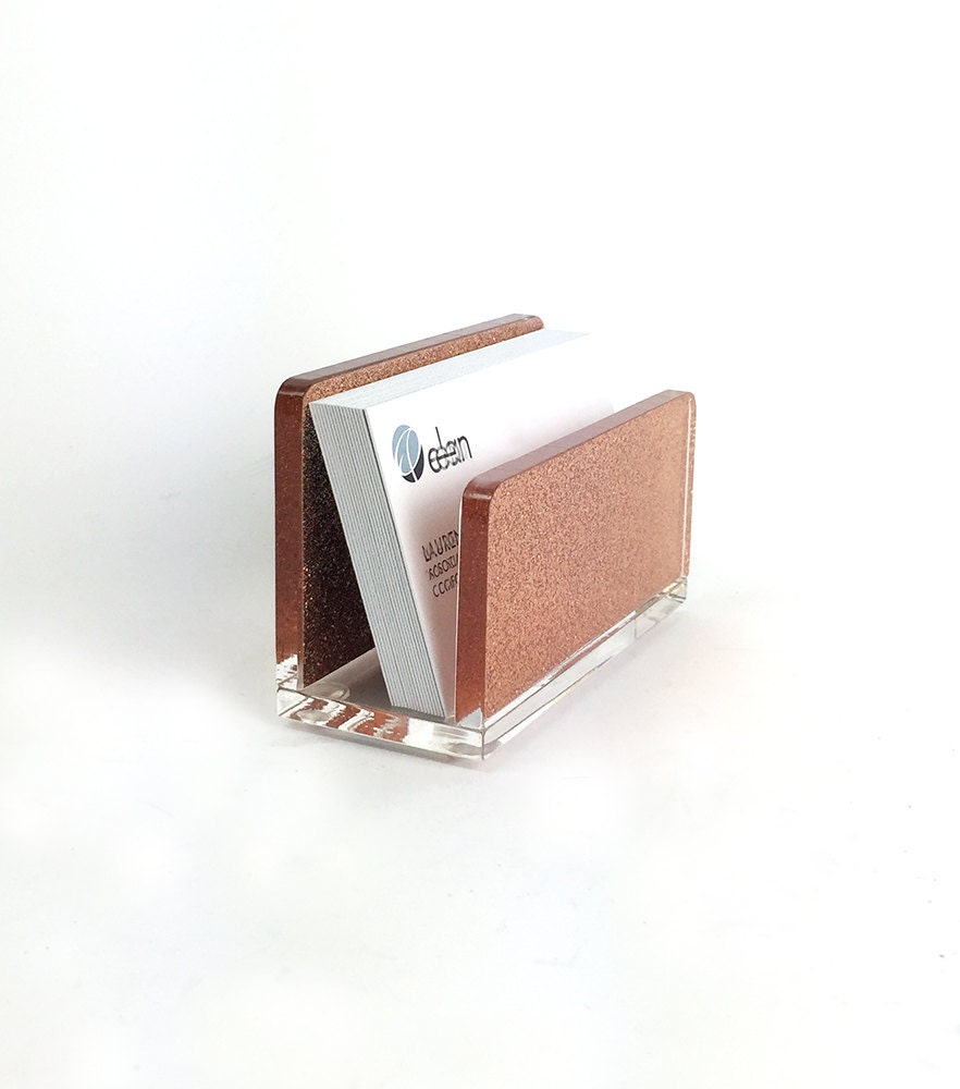 Business Card Holder-Acrylic-Rose