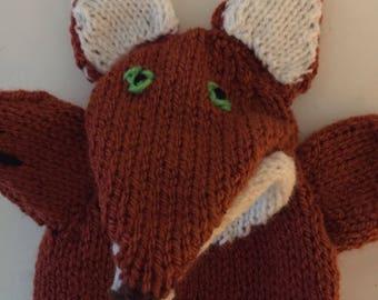 marionnette à main tricoté, Fox