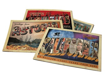 Greetings From! - Horror Postcards Set 3 (E.T, Stranger Things, The Goonies, Gremlins)