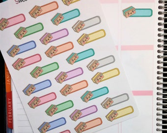 Kawaii Package/Delivery Planner Stickers!  Perfect for Erin Condren Life Planner, MAMBI/Happy Planner, Plum Planner, Etc.