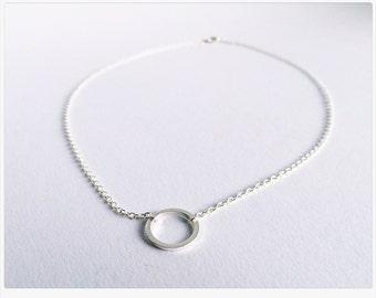 Chain circle silver, Minimalistic chains, matt, Circle of Life, Karma ring