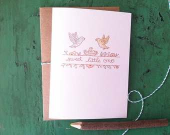 Sweet Little One - New Baby Card