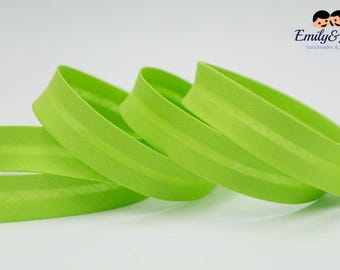 Bias tape light green, 20mm, 1,09 yards per piece