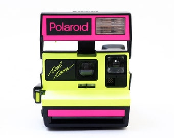 Polaroid Camera NEON Cool Cam  1980s Intstant 600 Film Camera