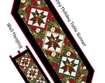 Happy Holiday Table Runner Pattern PDF #430e