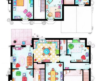 Floorplans of the house from THE SIMPSONS