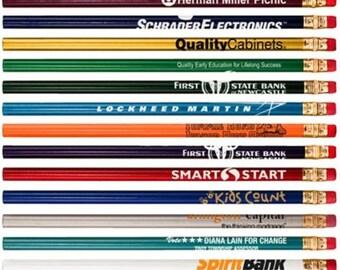 144 Custom Personalized  Round #2 Pencils. Imprinted Pencils. Promotional Pencils Back to school pencils. Non-Toxic ExpressPencils