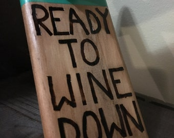 Self Balancing Wine Holder- Ready to Wine Down (green)