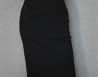 DIANE VON FURSTENBERG Black Pencil Skirt Size: 0