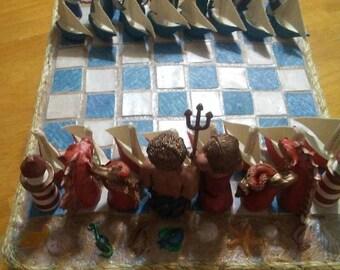 Handmade Nautical Chess set