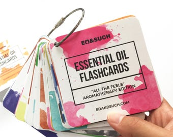 "Essential Oil Aromatherapy Flashcards ""All the Feels"""