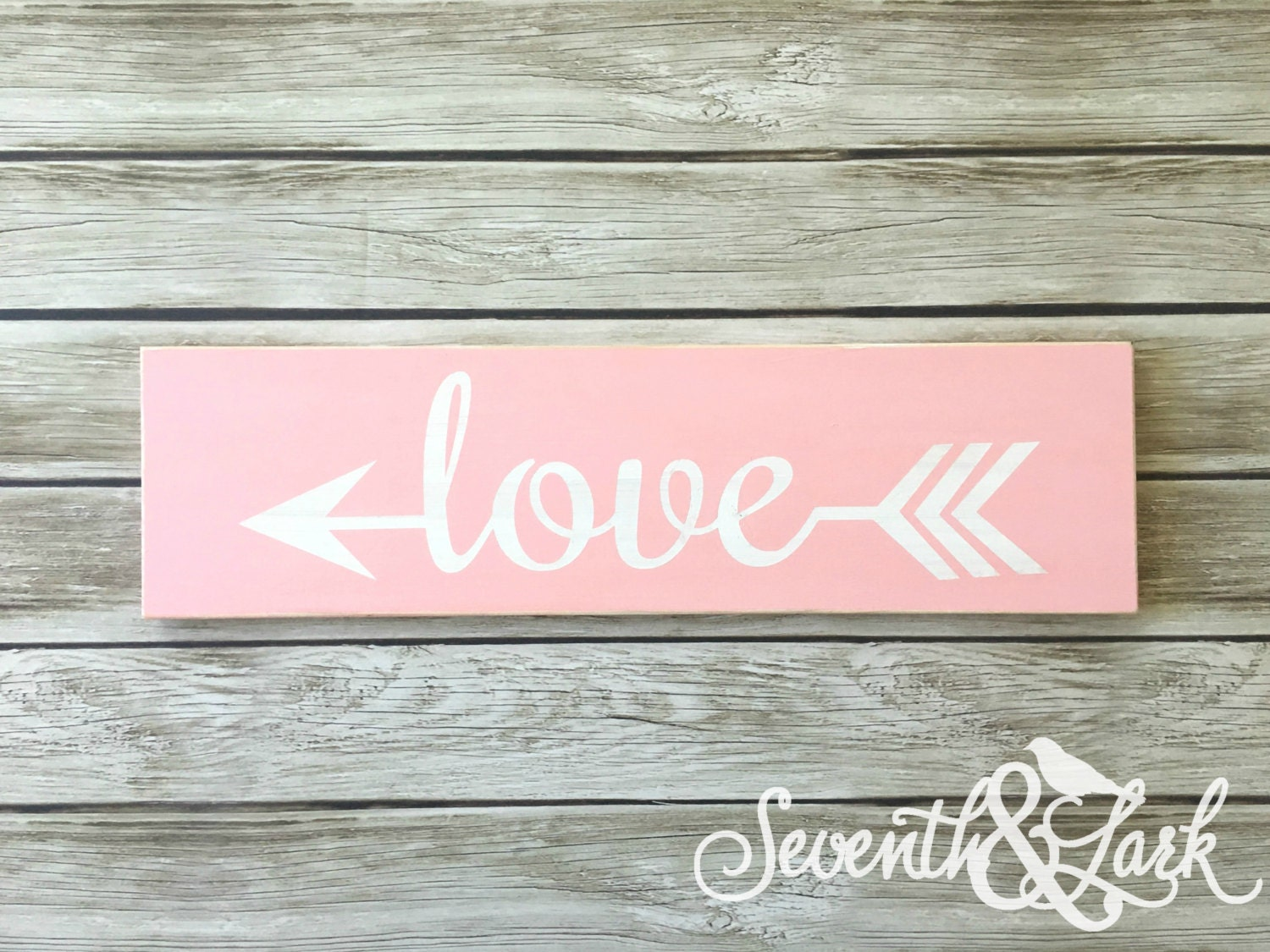 Diy kit wooden arrow sign love arrow rustic wood sign zoom solutioingenieria Image collections