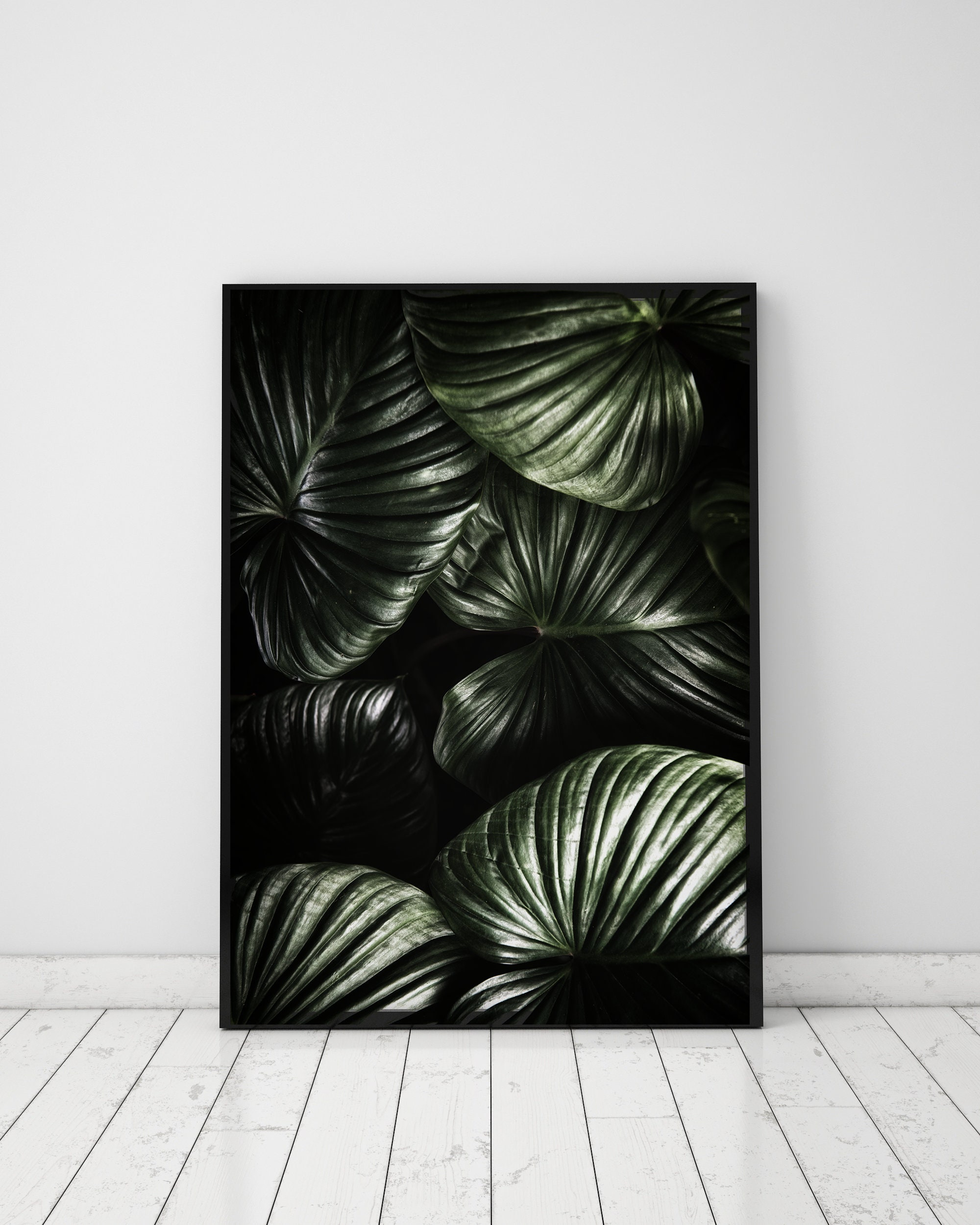 leaves pin printable decor download print art digital botanical wall tropical leaf