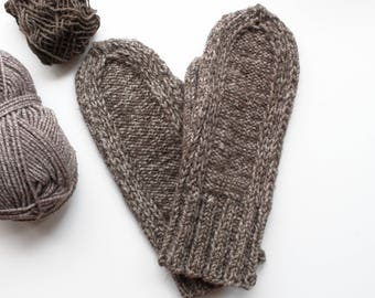 Mens mittens, Hand Knitted Wool Mittens, Hand Knitted Wool Gloves, warm gift for man, Men's Mittens, handmade mittens, knitted mittens