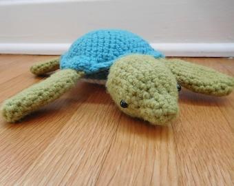 Amigurumi Crochet Large Sea Turtle - Stuffed Animal - Toy - Handmade