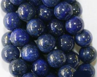 "Lapis Lazuli Beads - Round 6 mm Gemstone Beads - Full Strand 16"", 62 beads, A Quality"