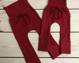 Porthole pants 0M - 12M 6M - 36M Red