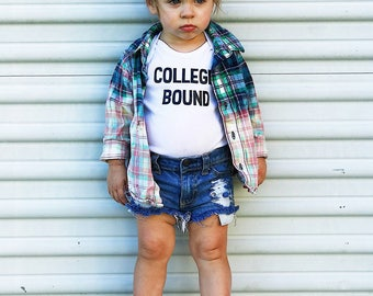 College Bound Onesie/Shirt, Expecting Mom Gift, Expecting Baby Gift, Newborn Baby Gift, Baby Shower Gift, Expecting Dad Gift, College Onesie