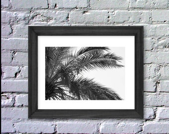 Digital, Instant Download, Palm Photography, Palm Print, Black & White, Inspiration Poster, 8x10, LeBoer