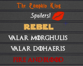 Game of Thrones inspired Valar Morghulis/Valar Dohaeris Fire and Blood snap tab vinyl bracelets faceless men arya stark braavos danerys