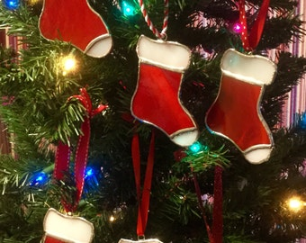Stained Glass Stocking Christmas Tree Ornaments By Sparkle Stained Glass