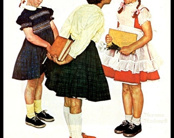 """Norman Rockwell Print, """"Checkup"""", Original Painting For Post Cover September 7, 1957, Vintage Book Page Print"""